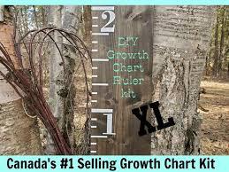 Diy Growth Chart Ruler Kit Xl Original Design Growth Chart Decals Height Ruler Canada Vinyl Decal Growth Chart Nursery Baby
