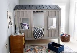 how to build a restoration hardware inspired diy cabin bed via jen woodhouse and ana
