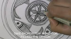 Mithila Painting Bed Sheet Design Easy Step By Step Madhubani Painting Fish