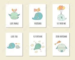 Cute Hand Drawn Doodle Birthday Party Baby Shower Cards Brochures