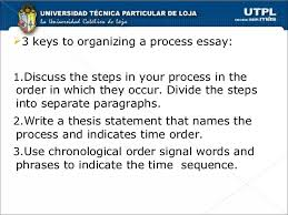chronological order process essays