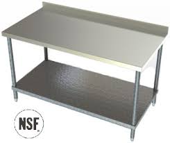 Stainless Steel Work Table With Backsplash Custom Benches Work Tables Stainless Steel Benches Stainless Steel Work
