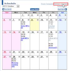 Membership List Template Room List Optional Feature Online Help Schedule Member Template