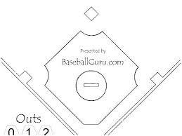 Baseball Field Diagram Fillable Printable Baseball Diamond Printable Baseball Template Blank