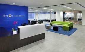 real estate office design. Interior Design Groups Renovated Bmo Offices Promote Collaboration. Simple Real Estate Office E
