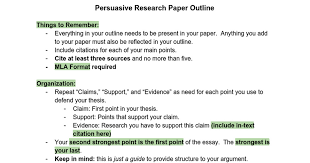 persuasive research paper outline google docs