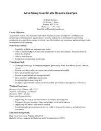 Sample Advertising Coordinator Resume Sample Advertising Coordinator Resume shalomhouseus 1