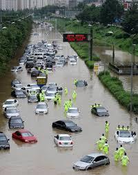 Наводнение в Южной Корее • НОВОСТИ В ФОТОГРАФИЯХ 20