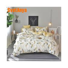 svetanya pineapple bedsheet pillowcase duvet cover sets 100 cotton bedlinen twin double queen king size bedding set color 20184 size twin 155x210