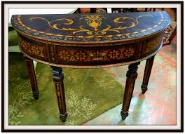 Round Entry Way Table Modern Style Half Circle Entry Table With Half Round Sofa Table