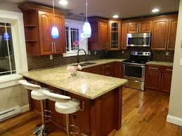 Raised Kitchen Floor Traditional Kitchen With Raised Panel Pendant Light In Seattle