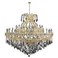 worldwide lighting maria theresa 49 light gold and clear crystal chandelier