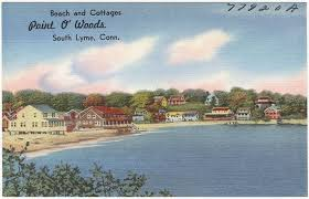 Beach And Cottages Point O Woods South Lyme Conn Old