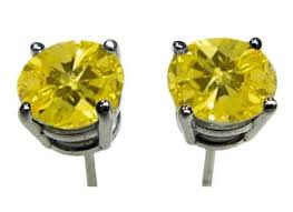 canary yellow diamond earrings for men galleryhip