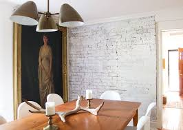 how to paint a brick wall to look old