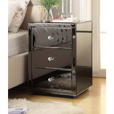 smoked mirrored furniture. ROMA Smoke Mirror Bedside Table Chest 3 Drawer - Mirrored Furniture Smoked A