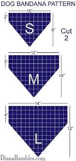 Corral Size Chart Diy Personalized Dog Bandana Costura Corbatas Para