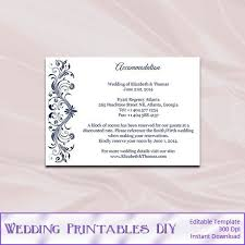 Free Wedding Accommodation Card Template Worptir