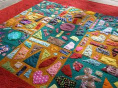 Hand Applique Tile quilt | tile quilts | Pinterest | Hand applique ... & New concept to me, called a