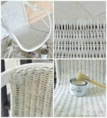 painting wicker furnitureChalk Paint Wicker Chair Makeover