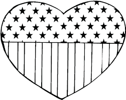 American Flag Heart Coloring Page Keralapscgov
