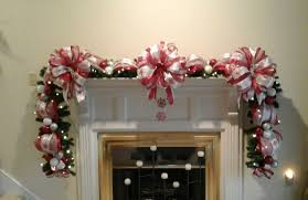 Garland With Red And White Lights Christmas Fireplace Mantel Garland Swag Lighted Garland