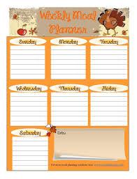 Thanksgiving Menu Planner Printable 12 Staggering Thanksgiving