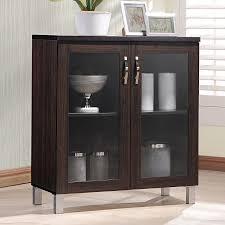 baxton studio sintra sideboard storage cabinet with glass doors com