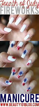 Easy Fourth of July Nail Art Tutorial - Beauty 101