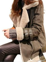 Designer Suede Jacket Womens Suede Leather Jacket Lamb Designer Winter Coats Turn Down Collar Thick Warm Jacket Coat