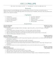Fast Food Restaurant Manager Resume Fast Food Assistant Manager Sample Resume Podarki Co
