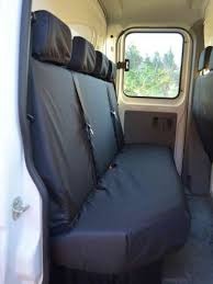 black rear 4 seater bench seat covers