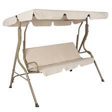Outdoor 2 Person Canopy Swing Glider Hammock Patio Furniture