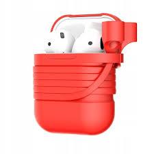 Силиконовый <b>чехол Baseus для Apple</b> Airpods, красный