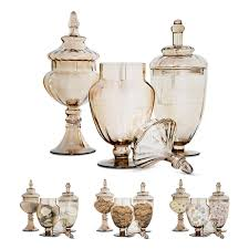 Decorative Jars With Lids Amazon Set of 100 Gold Apothecary Jars with Lids on Pedestal 29