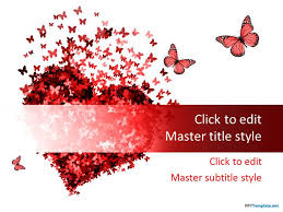 Red Ppt Free Red Heart Ppt Template