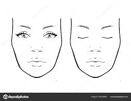 face chart makeup artist blank template vector ilration vector by melanjurga