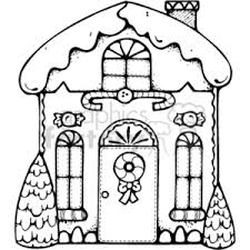 gingerbread house clipart black and white. Wonderful White Black And White Gingerbread House With An Icing Roof Inside Clipart And O