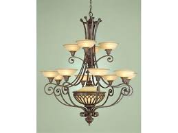 feiss cascade 12 light heritage bronze chandelier oil rubbed winton weathered pine castle collection lighting adorable