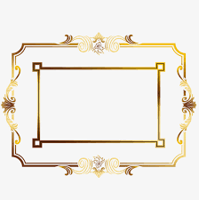Golden Border Gold Frame Cartoon PNG and Vector for Free Download