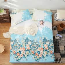 2019 Pastoral Blue Flower Printed Bed Sheets Fitted Sheet Case Polyester Cotton Fabric 120x200cm 150x200cm 180x200cm From Likejason 30 32