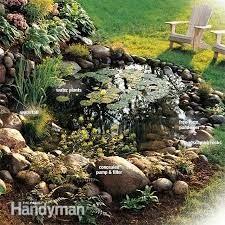 water garden with waterfall diy