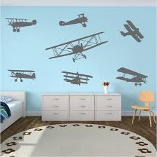 airplane wall decals zoom