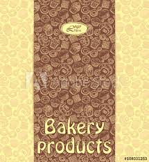 Bakery Menu Or Packaging Template With Sweet Dessert Objects