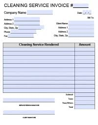 Cleaning Invoices Simple Free House Cleaning Service Invoice Template Excel PDF Word