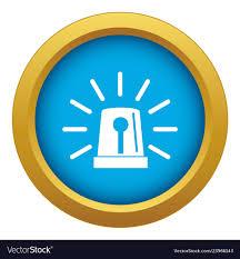 Emergency Light Logo Flashing Emergency Light Icon Blue Isolated
