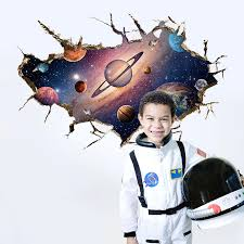 <b>Wallpapers Youman Self adhesive</b> Wall Stickers 3D Outer Space ...