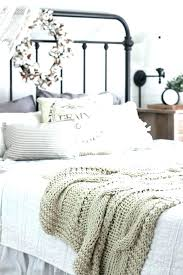 fall bedroom into home tour bedrooms decorating and neutral farmhouse bedding a beautiful pottery barn kitchen
