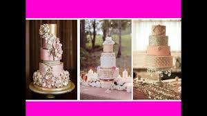 20 Pinkgold White Wedding Cake Ideas Youtube
