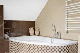 mosaic tile bathtub idea stock photo